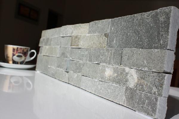natursteinwand wandverblender verblender riemchen echtstein po13 3 grau. Black Bedroom Furniture Sets. Home Design Ideas