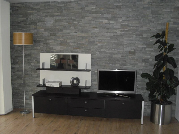 natursteinwand wandverblender verblender riemchen echtstein po13 3 grau. Black Bedroom Furniture Sets. Home Design Ideas