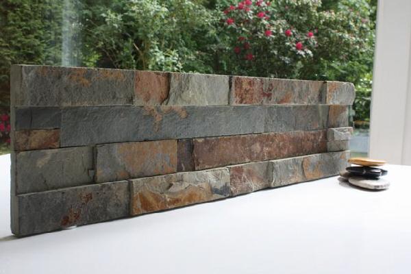 10 m natursteinwand riemchen schiefer verblender rusty grau braun fliesen ebay. Black Bedroom Furniture Sets. Home Design Ideas