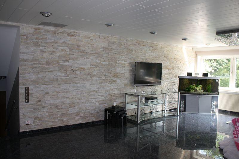 Details zu 1 Muster Marmor Natursteinwand Wandverblender Riemchen Echtstein  Fliesen 39€/m²